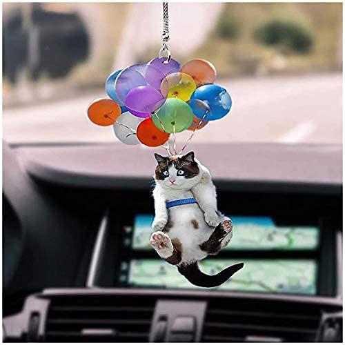 Adorno colgante de coche con globo colorido para colgar en coche, decoración interior del coche