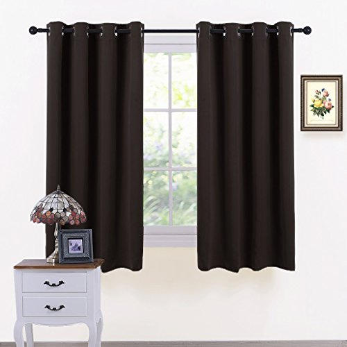 PONY DANCE Window Blackout Curtains - Thermal Insulated Grommet Curtain Shades Light Blocking Energy...