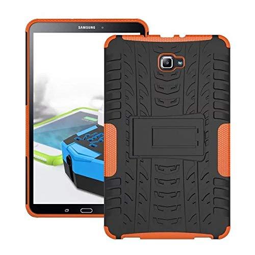 Hannuo Funda de Silicona Suave y Dura con protección para PC para Samsung Galaxy Tab A6 10.1 Pulgadas 2016 T585 T580 SM-T580 Cubierta para Tableta-Naranja