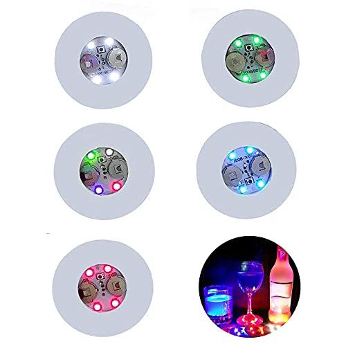 Confezione da 20 sottobicchieri a LED, colorati con luci a LED, ideali per bar, bevande e bevande e bevande