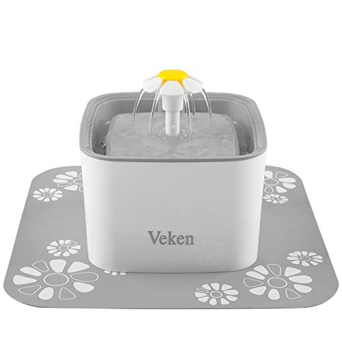 Veken Pet Fountain, 84oz/2.5L Automatic Cat Water Fountain...