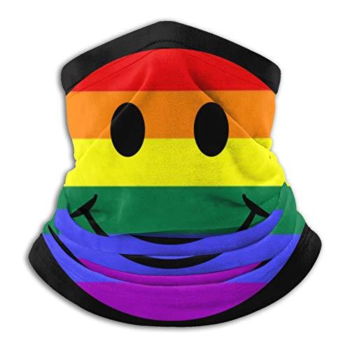 Smiley Face Rainbow Unisex Invierno Multiusos Bufanda Pañuelo Cuello Calentador