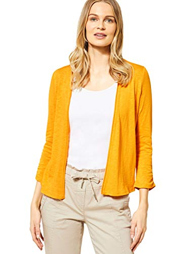 Cecil Damen 314841 T-Shirtjacket Strickjacke, Mango Yellow, Medium