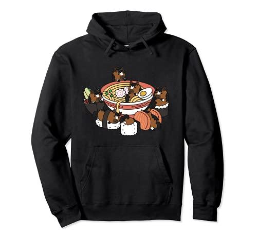 Ramen Sushi Caballo Mascota Sudadera con Capucha