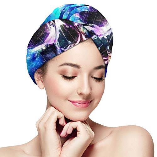 Bettiboy Sugar Skull Fantastic Halloween Microfiber Hair Towel Wrap for Women Super Absorbent Quick Dry Hair Turban for Drying Curly Spa Towel 11¡± X 28¡±