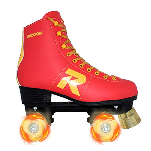 DLBJ Classic Roller, Rollschuhe Für Kinder Jugendliche Und Erwachsene, Größenverstellbare Quad-Skates,42