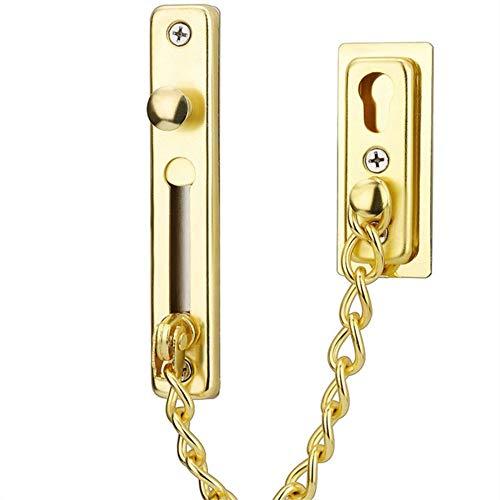 Tragbare Haustür-Diebstahlsicherungskette, Türverriegelung, verdeckte Diebstahlsicherung an der Hoteltür,Golden