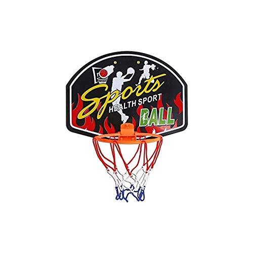 CMTTOME Mini juego de aro de baloncesto, juego de pared para interior y hogar, juego con 1 mini bolas y bomba de inflado para niños y adultos (juego C)