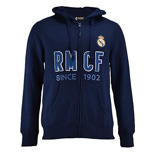 Sudadera Real Madrid Capucha Abierta Adulto (S)