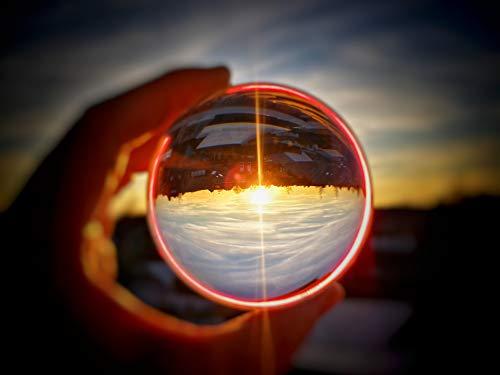Bresser Fotostudio helder glas fotobal 8 cm voor effectieve foto's met 180° spiegeling