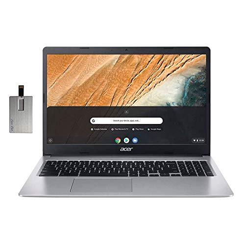 2020 Acer Chromebook 315 15.6' HD Laptop Computer, Intel Celeron N4000 Processor, 4GB RAM, 32GB eMMC, HD Webcam, Intel UHD Graphics 600, Protective Sleeve, Bluetooth, Chrome OS, Grey, 32GB USB Card
