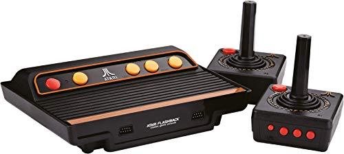 Millennium Atari Flashback 9 Gold HD Edition 2019 (120 vorinstallierte Spieleklassiker, 2x kabellose 2.4 GHz Controller, HDMI, SD-Slot) schwarz