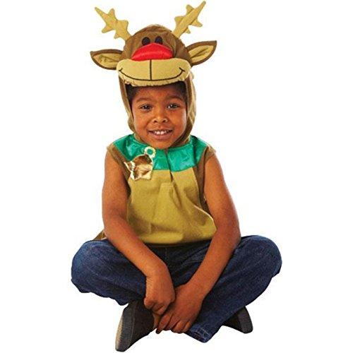 Amscan 995060 - Costume Rudolph Renna, Bambini, Multicolore, Taglia 3-5 anni