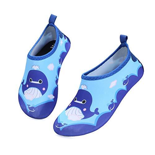 K KomForme Kinder Badeschuhe Barfußschuhe Wasserschuhe Strandschuhe Schwimmschuhe Aquaschuhe Mädchen Jungen, Wal, 30/31 EU