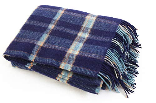 100% New Irish Lambswool Pure wool Camping Blanket