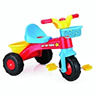Supports physical development Easy to assemble Push button horn with sound effects - Pretend ignition key Large back saddle - Front and rear basket Dimension: 47cm x 65cm x 50cm