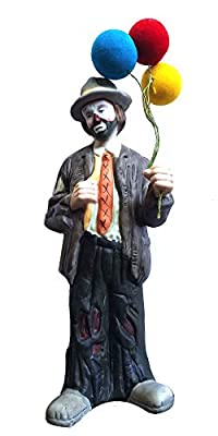 """Emmett Kelly Jr""""Balloons for Sale"""" Collectible Ceramic Clown Hobo Figurine"""