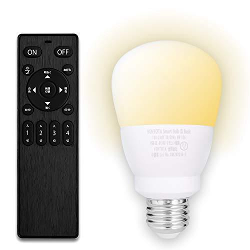 【Amazon限定ブランド】60w形相当 調光調色 リモコン付 LED電球 口金 E26 SB2-bsc-1+1 FineKagu+