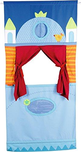 HABA HA-1055 7281 Türtheater, hübsches Zubehör fürs Kasperle-und Puppentheater, schnell und leicht im Türrahmen zu fixieren