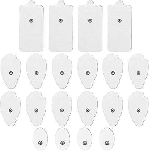 LiteTour 20 Pezzi Elettrodi per Massaggiatore Elettrostimolatore Adesivi Elettrodi per Elettrostimolatore Portatile Gel Pad