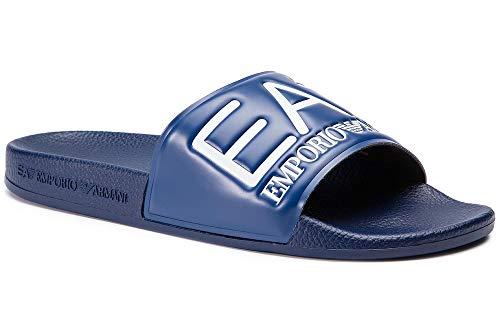 Emporio Armani Hombre Slides Ea7 Sandalias Azul, 46