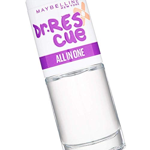 Maybelline New York - Dr Rescue - Soin Tout-en-Un Base et Top Coat - All In One - 6,7 ml