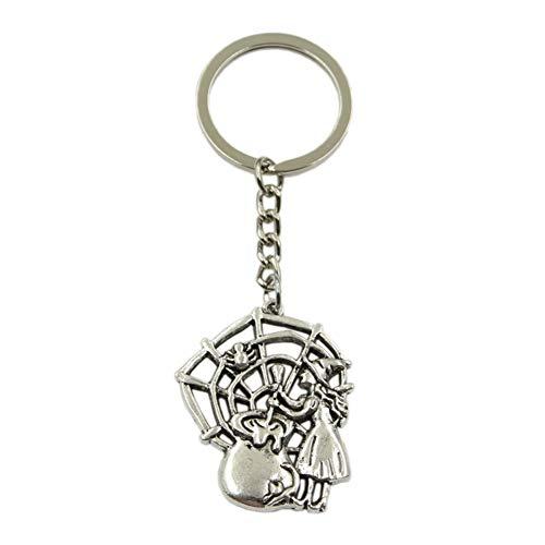 N/ A SGDONG sleutelhanger met hanger ketting van metaal kleur zilver sleutelhanger souvenir voor auto heren