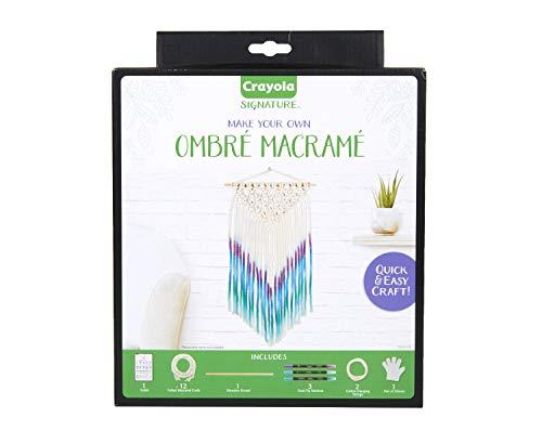 Crayola DIY Macrame Wall Hanging Kit, Ombre Macrame Supplies, Gifts for Teen Girls & Boys