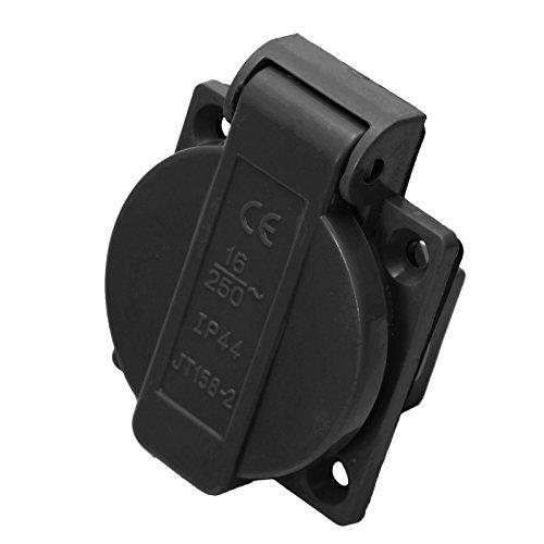 Einbausteckdose IP44 Schuko 230/250V 16A in blau oder schwarz (schwarz)
