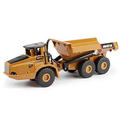 1/50 Scale Diecast Articulated Dump Truck, Metal Engineering Vehicle Construction Models Toys for Kids (Articulated Dump Truck)