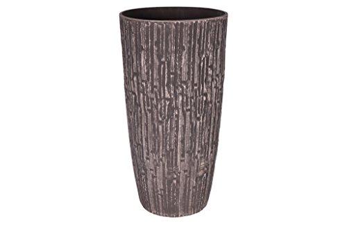 Cera-Mix Pot de Fleurs, Bac à Plante Caval, résistant au Gel et ultraléger, Brun, 36x70cm