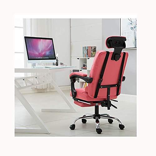 Scra AC Ufficio Boss Sedia ergonomica Computer Gaming Chair Internet Cafe sede Domestica Sdraio, Rosa (Color : Pink)
