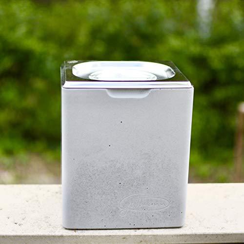 GUTMANN - DESIGN Bio Komposteimer Mülleimer Küchenabfall Kompostbehälter aus Beton und Edelstahl WC Abfall Kompost handgemacht in Deutschland