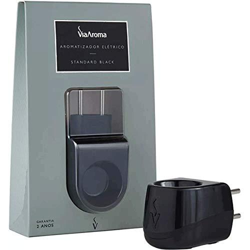 Via Aroma, Aromatizador Elétrico Difusor Aromaterapia Standard Luxo, cor Preto, Plástico