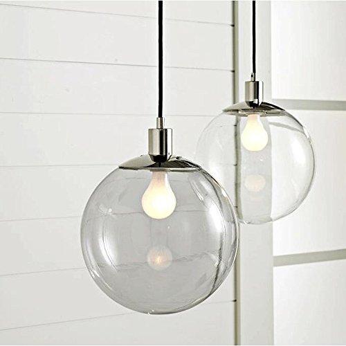 60 W E27 hangend licht in glazen kogel-eigenschap moderne eenvoudige bevestiging aan het plafond van de lamp - spanning = 220-240V (Φ25).