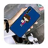 Nine-C Chica Comics Teléfono Caso TPU Para Huawei G7 G8 P7 P8 P9 P10 P20 P30 Lite Mini Pro P Smart Plus-a8-Para P10Plus