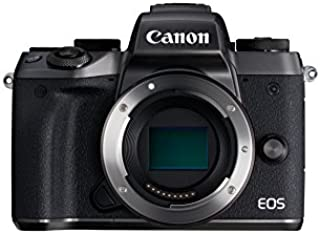 Canon EOS M5 - Cámara Evil de 24.2 MP (Pantalla táctil de 3.2 DIGIC NFC Dual Pixel CMOS Hybrid Auto HDR Bluetooth ISO EF Lenses Remote Shooting Manual Movie Full HD WiFi) Negro