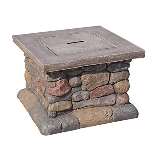 Brasero Exterior Terraza de 24 Pulgadas Outdoor Fire Pit, Pozo de Fuego Cuadrado de leña ultraep Profundo, jardín al Aire Libre Terraza Fire Pit (Color : Style1)