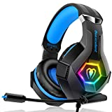 Casque Gaming PS4, Casque Gaming Xbox one Professionnel RGB 7 Couleurs Audio Stéréo Basse Anti-Bruit Réglable Micro Compatible PC Mac Laptop Nouvelle Version 2020