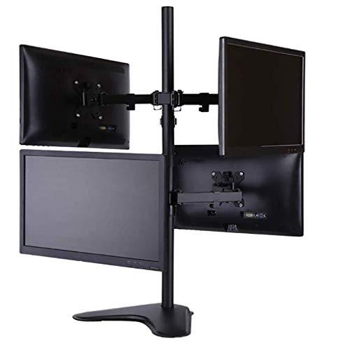 Soporte para TV, Soporte de Escritorio para 4 monitores/Soporte de Monitor Ajustable en Altura/Soporte para la mayoría de monitores LCD/LED de 13 a 32 Pulgadas