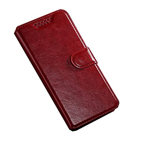 HONGGE Für Lenovo A2016A40 Vibe B 2016 Fall Brieftasche Ledertasche für Lenovo A1010A20 A Plus A1010 A2020 A1000 A6000 A7000 A7010 Coque (Color : Red, Material : Aplus)