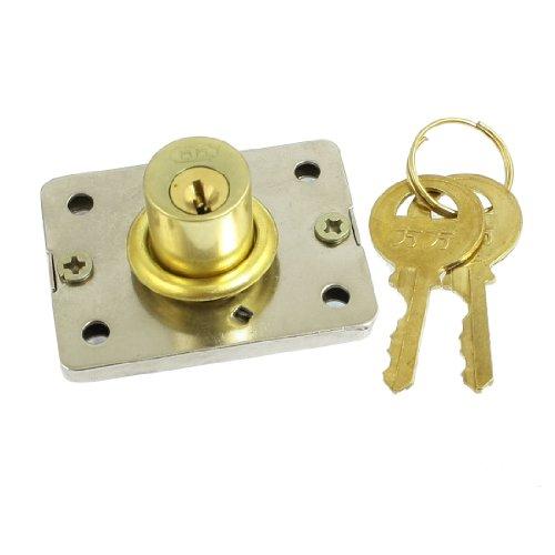 Konisches Sicherheitsschloss mit zwei Schlüsseln für Schubladentüren mit Metallzylinder aus Messing. de