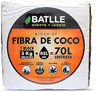 Sustrato de fibra de coco 180 gr: Amazon.es: Jardín