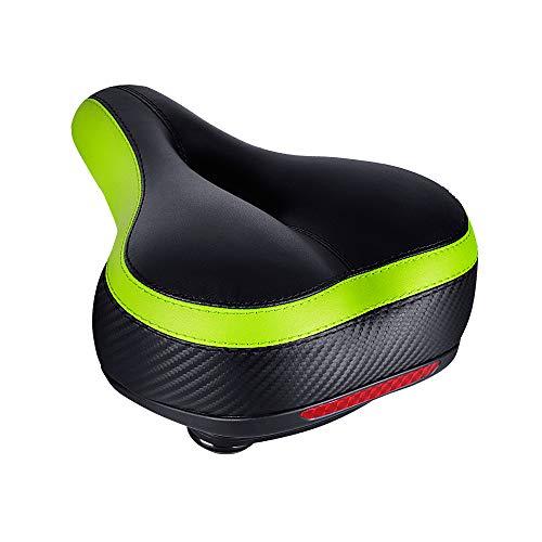 Yoleo Fahrradsattel Breit Bequemer Cityradsattel Wasserdicht Fahrradsitz Komfort Atmungsaktiv Mountainbikesattel (Grün)…