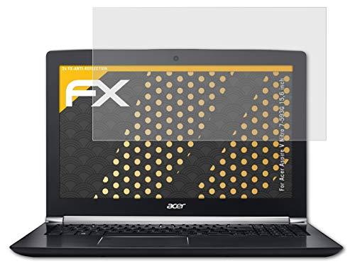 atFolix Panzerfolie kompatibel mit Acer Aspire V Nitro 7-593G 15,6 inch Schutzfolie, entspiegelnde & stoßdämpfende FX Folie (2X)