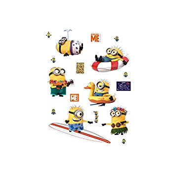 FATHEAD Minions  Beach Collection-X-Large Officially Licensed Removable Wall Decal