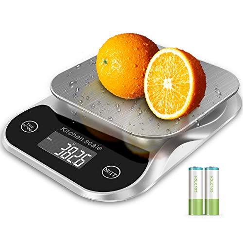 Báscula Electrónica Digital Para Alimentos De Cocina En Onzas y Gramos Con Calculadora Nutricional Para Frutas,Calorías y Cocina, Ingredientes