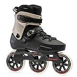 Rollerblade Twister Edge 110 3WD Unisex Adult Fitness Inline Skate, Black and Sand, Premium Inline Skates, 8