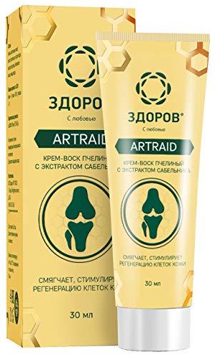 ZDOROV Artraid natürliche Propolis Wachs-Creme mit Sumpf-Blutauge-Extrakt (30g)