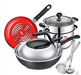 Batería de cocina Utensilios Conjunto de utensilios de cocina de acero inoxidable de 8 piezas Conjunto de utensilios de cocina de cocina profesional Conjunto de macetas de acero inoxidable de 8 piezas